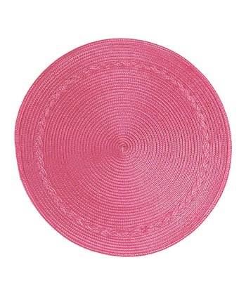 Pink Round Place Mat - Set of Four