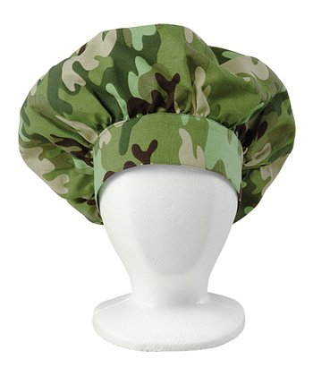 Green Camouflage Chef Hat