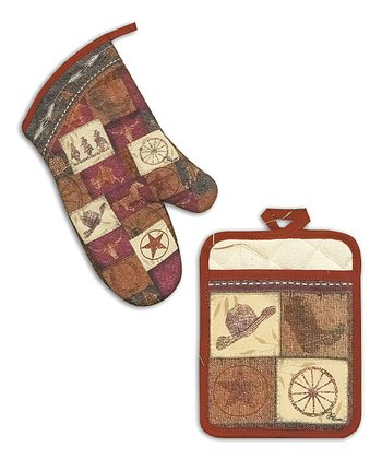 Go West Oven Mitt & Pot Holder