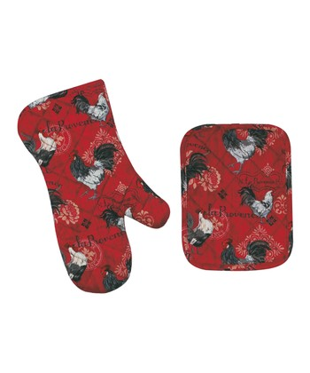 'La Provence' Pot Holder & Oven Mitt