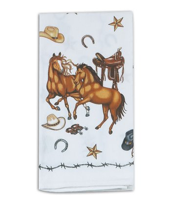 Saddle Up Flour Sack Dish Towel - Set of Two