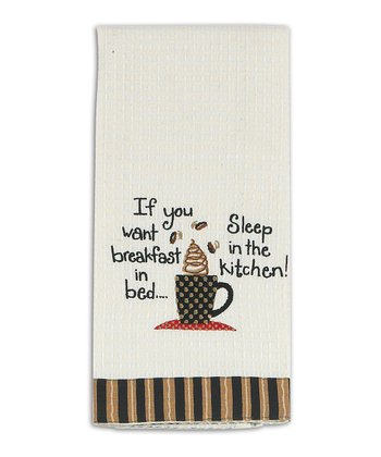 'Sleep in the Kitchen' Waffle Dish Towel - Set of Two