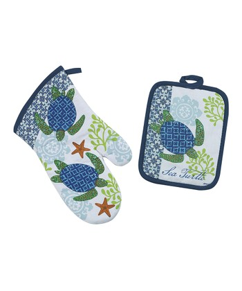 Sea Turtle Pot Holder & Oven Mitt