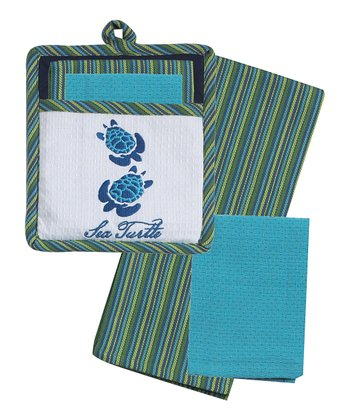 Sea Turtle Pot Holder Set