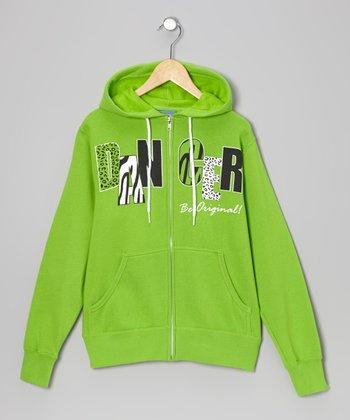 Green 'Dancer' Zip-Up Hoodie - Women