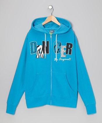 Blue 'Dancer' Zip-Up Hoodie - Women