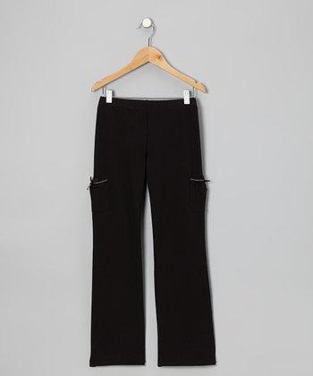 Black 'Dance' Pants - Girls