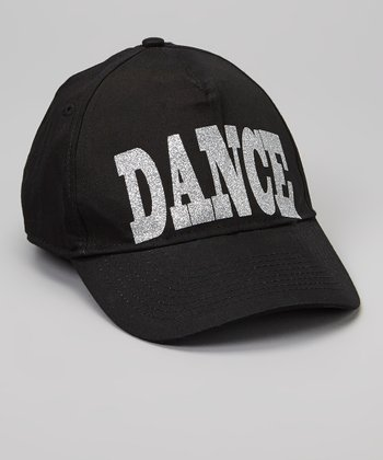 Black 'Dance' Baseball Cap - Kids