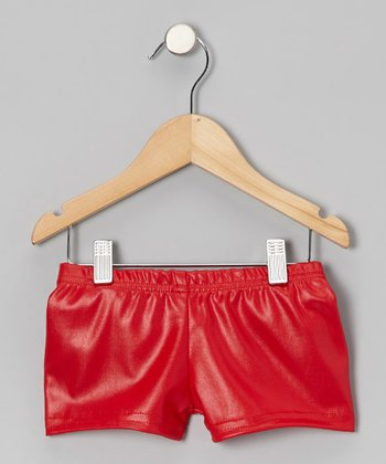 Butterfly TREASURES Red Shimmer Shorts - Girls