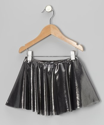Silver Metallic Circle Skirt - Toddler & Girls