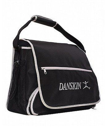 Black & Silver Messenger Bag