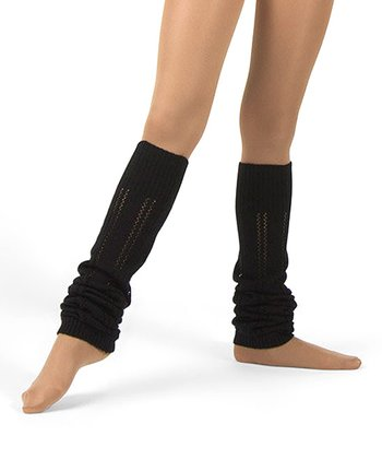 Black Pointelle Leg Warmers