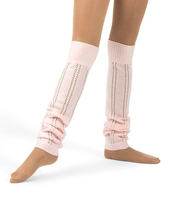 Theatrical Pink Pointelle Leg Warmers