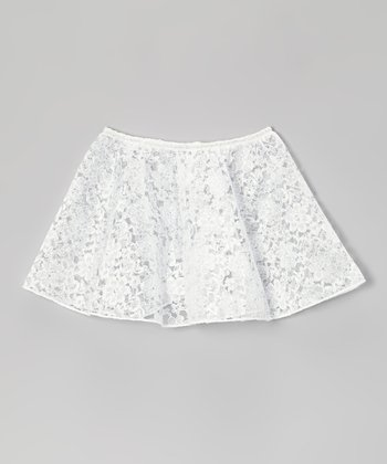 White Lace Skirt - Toddler & Girls