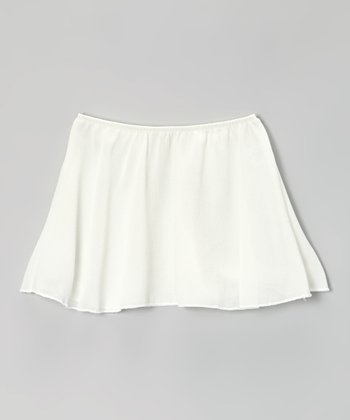 Ivory Georgette Skirt - Toddler & Girls