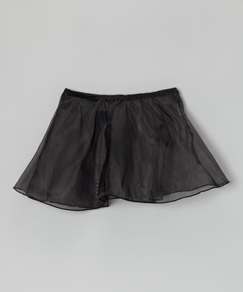 Black Organza Skirt - Toddler & Girls