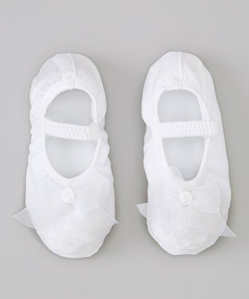White Satin Princess Slipper