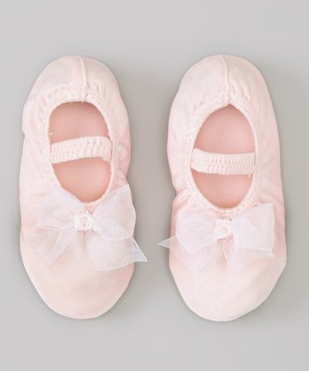 Pink Satin Princess Slipper