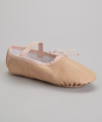 Pink Leather Ballet Slipper
