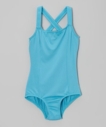 Sea Breeze Cross-Back Leotard - Girls