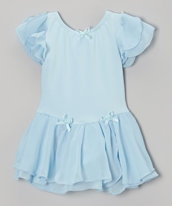 Light Blue Skirted Leotard - Toddler & Girls
