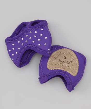 Purple Rhinestone Neoprene Half Sole