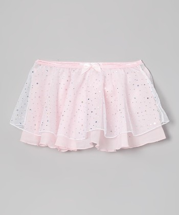 Pink Hologram Double Layer Skirt - Toddler & Girls