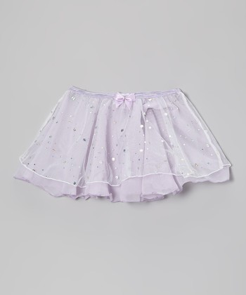 Lavender Hologram Double Layer Skirt - Toddler & Girls