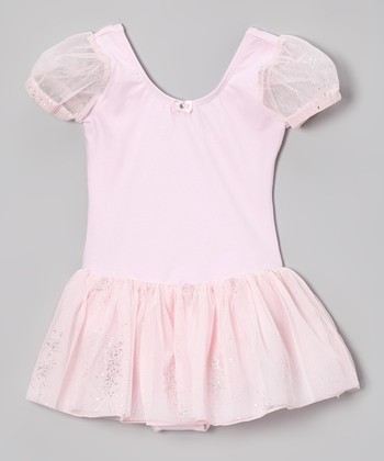 Pink Mesh Skirted Leotard - Toddler & Girls