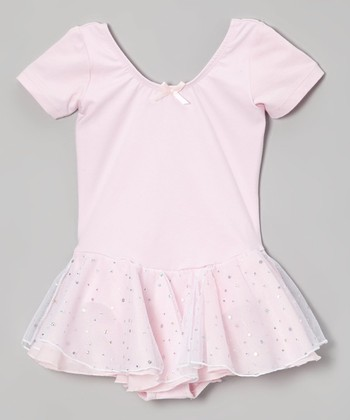 Pink Hologram Skirted Leotard - Toddler & Girls