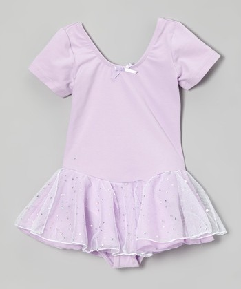 Lavender Hologram Skirted Leotard - Toddler & Girls