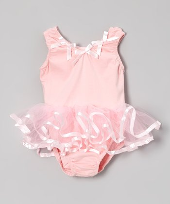 Pink Ribbon Tutu Leotard - Girls