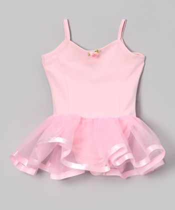 Pink Camisole Ribbon Skirted Leotard - Toddler & Girls