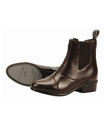 Dark Brown Defy Zip Leather Boot - Women