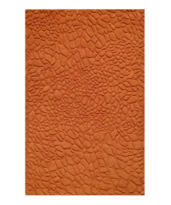 Tangerine Pebble Wool Rug