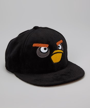 Black Angry Bird Plush Baseball Cap