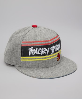 Gray Angry Birds Baseball Cap