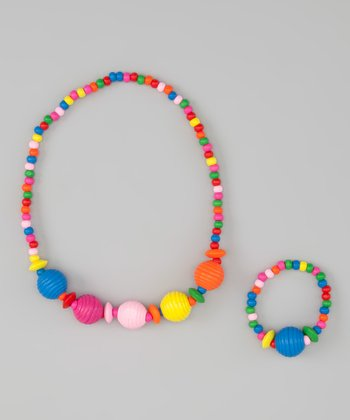 Grooved Ball Stretch Necklace & Bracelet