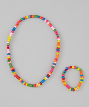 Tube Bead Stretch Necklace & Bracelet