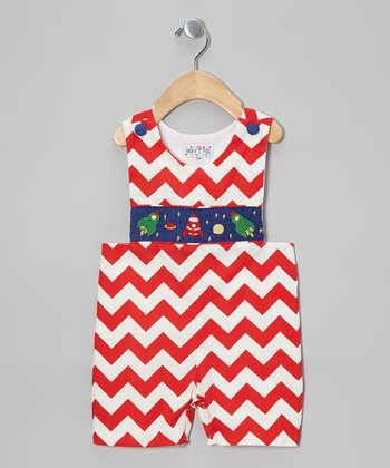 Red Zigzag Rocket John Johns - Infant & Toddler