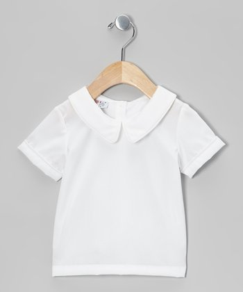 White Peter Pan Top - Infant