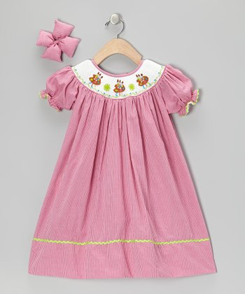 Hot Pink Palette Dress & Bow Clip - Infant, Toddler & Girls