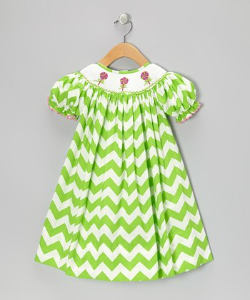 Green Lollipop Dress - Toddler