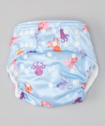 Light Blue Octopus Pocket Diaper