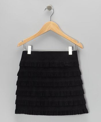 Black Tiered Ruffle Skirt