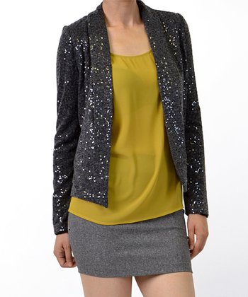 Charcoal Sequin Jacket