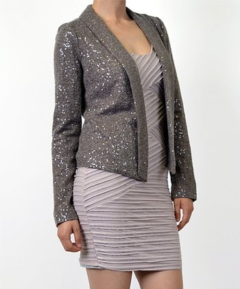 Mocha Sequin Jacket