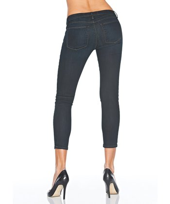 Black Dark Wash The Perfect Capri Jeans