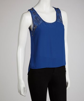Blue Embellished Tank