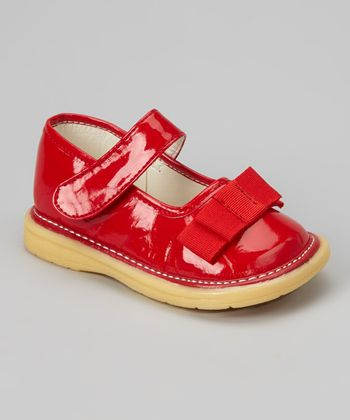 Red Patent Bow Mary Jane